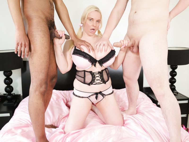 White & Black Dick Threesome